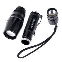 2000 Lumen CREE XM-L T6 LED Flashlight Torch Zoomable Focus Light Lamp 5Modes