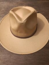 Tan Coloured Cowboy Hat. SHOP SOILED. Gardening hat. sun hat. medium and large.