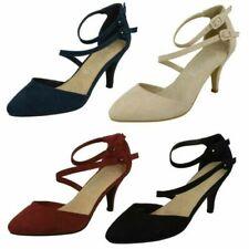 Ladies Spot On Mid Heel Court Shoes