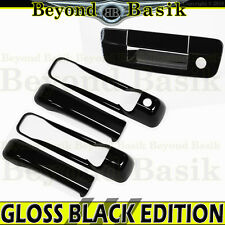 2010-2018 Ram 2D 2500 3500 GLOSS BLACK Door Handle COVERS w/o PSK+Tail Gate w/KH