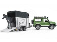 Bruder Toys 02592 Pro Series  Land Rover Defender with Horsebox & Horse 1:16