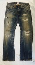 PRPS Mens Barracuda Ponyskin 30 Distressed Denim Jeans SUPER RARE p47p31x Japan