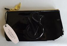 VICTORIA'S SECRET   LITTLE BLACK ZIPPERED EVENING BAG!  NWT!