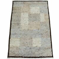 Plush Checkered Moroccan Shaggy Hand-Knotted Oriental Area Rug Modern Carpet 6x8