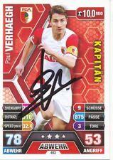 Paul Verhaegh  FC Augsburg  Match Attax Card 2014/15 signiert 400702