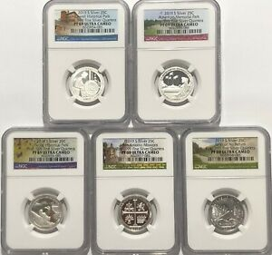 2018 S SILVER QUARTERS SET 25C REVERSE PROOF NGC PF69 FIRST RELEASES 456