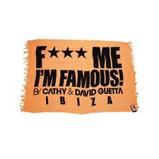David Guetta F*** Me I'm Famous Ibiza Sarong Logo Beach Swimwear Orange New