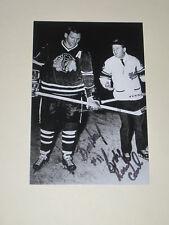 Chicago Blackhawks BILL HAY Signed 4x6 Photo NHL HOF AUTOGRAPH 1B