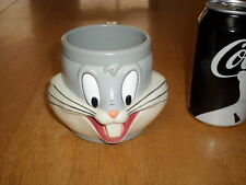 WARNER BROTHERS - BUGS BUNNY HEAD & FACE, APPLAUSE Plastic Drinking Cup, Vintage