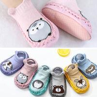 AU_ Baby Cute Cartoon Non-slip Cotton Toddler Floor Socks Kids Shoes Slipper Soc