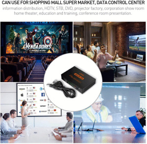 Hdmi Splitter 1 in 4 Out Hdmi Video Repeater Mirror Splitter with AC Adaptor