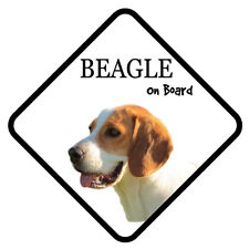 BEAGLE On Board Car Sign With Sucker Dog Stickers