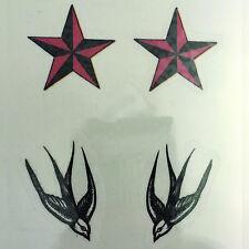 Golondrinas & Stars Tatuaje Temporal Arte Corporal