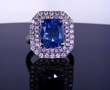 Natural Cushion Cut Fancy Vivid Blue Diamond Engagement Ring 7.00 Ct $35000