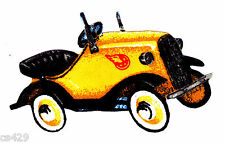 """3"""" ANTIQUE CAR PLANE VEHICLE TRACTOR CHARACTER FABRIC APPLIQUE IRON ON"""