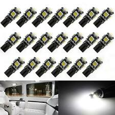 20x 12V Canbus Error Free T10 5SMD 5050LED Interior Light Bulb 194 168 White N,