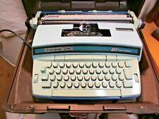 Smith Corona Coronet Super 12 Coronamatic Blue Portable Electric Typewriter With