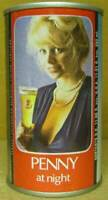 TENNENT'S PENNY AT NIGHT ss Beer CAN, SCOTLAND, UNITED KINGDOM, Girl, Fair