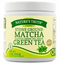 2 Pack Nature's Truth Stone Ground Matcha Green Tea Drink Powder 4oz Each