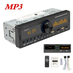 Bluetooth Car Stereo Audio In-Dash FM Aux Input Receiver USB TF MP3 Radio Player