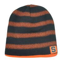 NCAA Syracuse Orange Kinella Cuffless Reversible Striped Knit Beanie Toque Hat