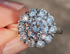 1.5 ct Center Sunshine Ring Top Russian Quality CZ  Moissanite Simulant Size 6