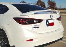 Mazda 3 2014+ 2-Post Custom Rear Spoiler Primer Finish With LED Made in the USA
