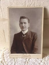 Antique Cabinet Photo F. Whaley Doncaster & Scarborough Young Male