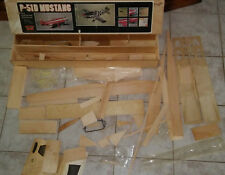 Vintage House Of Balsa P-51D Mustang Model Airplane Kit