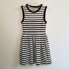 Silence + Noise Jrs Small Urban Outfitters Dress Black White Stripe Sleeveless