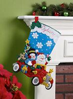 Bucilla - 'Holiday Drive'  Christmas Felt Stocking Stitchery Kit, 86451