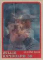 Willie Randolph 1988 Sportflics #47 New York Yankees card