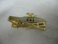 MASON MASONIC Vintage DEMASCUS TEMPLE Crossed Crutches Tie Clip Tie Clasp ~