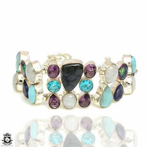 Labradorite Larimar Amethyst Mystic Topaz Bracelet B3965