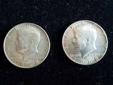 1968 KENNEDY LIBERTY HALF DOLLAR SILVER COIN  -  LOT OF 2