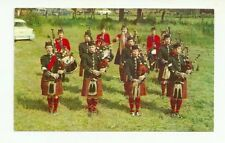 CANADIAN GIRLS' PIPE BAND HIGHLAND GAMES, AT MAXVILLE, ONTARIO CHROME POSTCARD