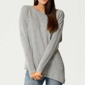 Pullover mit Kaschmir von Patrizia Dini, Größen 34+36, grau-melange, 21003575