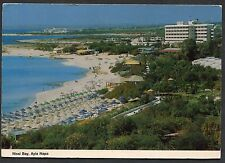 Posted 1990 View of Nissi Bay, Ayia Napa, Cyprus