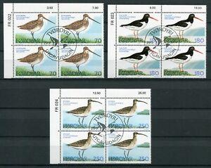 Faroe Marginal Block 1977 FR022-024 Birds CTO FDC Complete Series