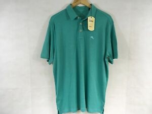 Tommy Bahama Shirt Frosted Jade Polo Men's L Short Sleeve Active Golf Sports New