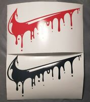 Nike Drip Swoosh Basketball Vinyl Decal Sticker Wall Art Decor Window Laptop