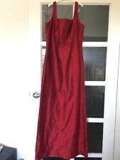 Custom Made Red Silk Dupion Formal Evening Bridesmaid Dress To Fit Size 8