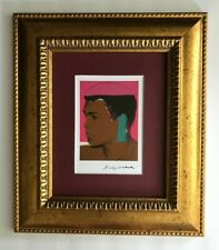 ANDY WARHOL 1984 SIGNED MUHAMMAD ALI PRINT MATTED 8X10