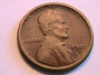 1921-S Lincoln Cent Choice VF Nice Very Fine Toned Original Wheat Penny USA Coin