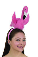 Deluxe Pink Velvet Flamingo Headband Bird Headpiece Fun Adult Costume Accessory