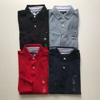NWT Tommy Hilfiger Men's Classic Fit Long Sleeve Polo Shirt Top Solid colors NEW