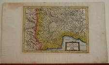 PIEDMONT AOSTA VALLEY ITALY & FRANCE 1700 ANONYMOUS ANTIQUE COPPER ENGRAVED MAP