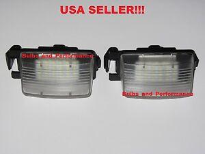 For NISSAN CUBE VERSA 350Z 370Z GT-R WHITE LED LICENSE PLATE LIGHT HOUSINGS