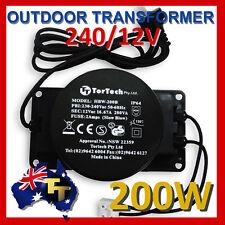 OUTDOOR GARDEN Low Voltage LIGHTING TRANSFORMER 12V 200VA HBF-200B IP66