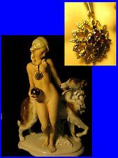 zauberhafter Granatanhänger, massiv Gold 585er Granat Kettenanhänger pendant 585